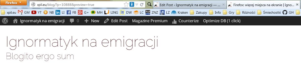 Firefox: więcej miejsca na ekranie