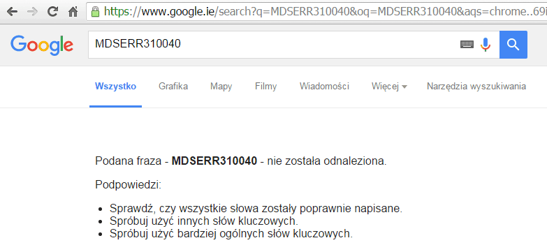 MDSERR310040